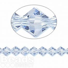 5328 Swarovski Crystal Bicones Xillion 6mm Light Sapphire Pk24