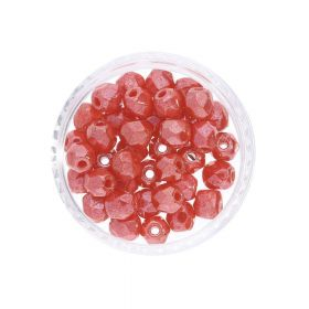 Firepolish ™ / 4mm / Luster Opaque / Lt. Red / 40pcs
