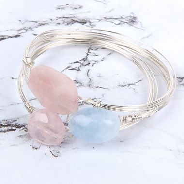 Semi-Precious Stacking Bangles