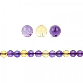 Natural Ametrine Semi Precious Round Beads 8mm Pk10