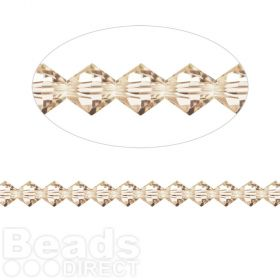 5328 Swarovski Crystal Bicones Xillion 4mm Light Silk Pk24