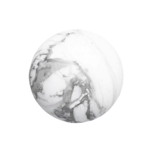 Marble / cabochon / round / 18x18x6.5mm / 1pcs