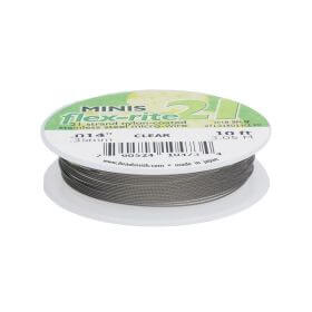 BEADSMITH® / Flex-Rite® 21 wire / surgical steel / .014inch / Crystal / 3m