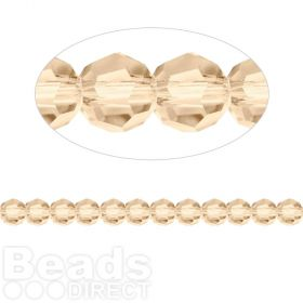 5000 Swarovski Crystal Faceted Rounds 4mm Golden Shadow Pk12