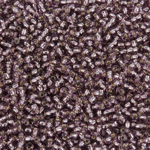 Preciosa Size 10 Round Seed Beads Silver Lined Mauve 50g
