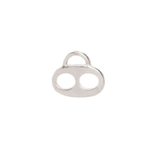 X-Titanium Plated Two Hole Flat Charm Carrier 13x15mm Pk1