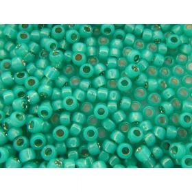 TOHO ™ / Round 8/0 / Silver-Lined Milky / Teal / 10g / ~ 300pcs