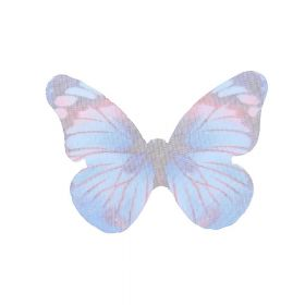 Butterfly wings / organza / 31x43mm / blue / 4pcs