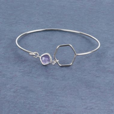 Crystal Hex Bangle
