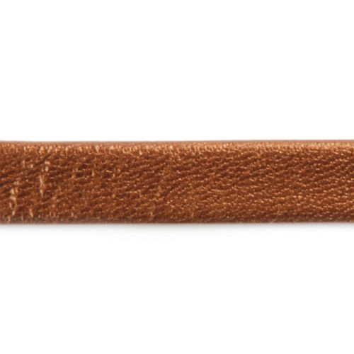 X-Bronze Metallic Flat Leather 10mm Sold in a 1m Length