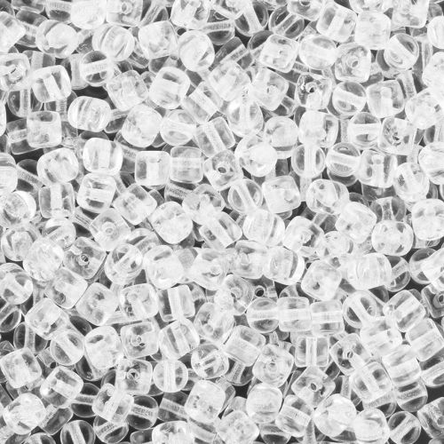 Crystal Minos Par Puca Glass Beads 2.5x3mm 10g