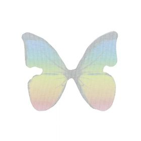 Butterfly wings / organza / 33x38mm / multicoloured / 4pcs