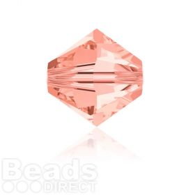 5328 Swarovski Crystal Bicones 6mm Rose Peach Pk360
