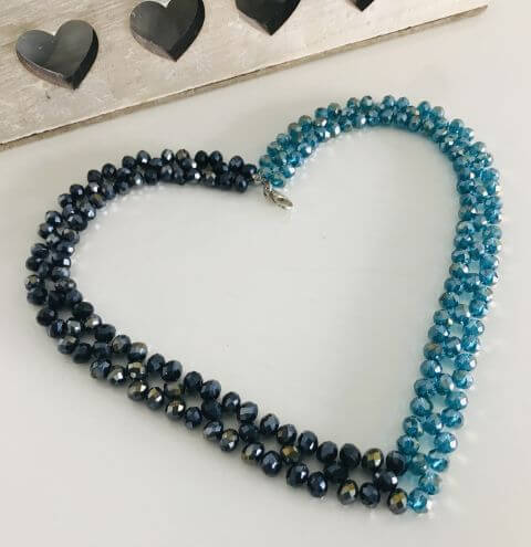 How to make a beaded rondelle necklace - jewellery making tutorial