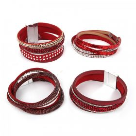 Red California Multi Cord Take a Make Break Bracelet Kit - Makes x4