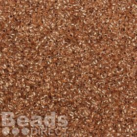 Toho Size 11 Round Seed Beads Copper-Lined Crystal 10g