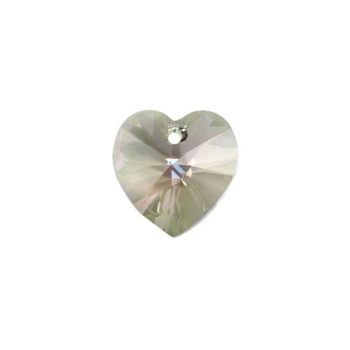 6228 Swarovski Crystal Heart 17.5x18mm Crystal Paradise Shine Pk1