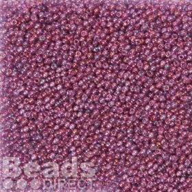 Toho Size 11 Round Seed Beads Gold Luster Amethyst 10g