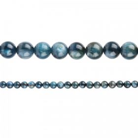 "Blue Kyanite Semi Precious Round Beads 6mm 15"" Strand"