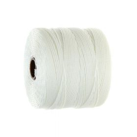 BEADSMITH ™ / thread SuperLon Fine / nylon / Tex 135 / White / 0.5mm / 108m