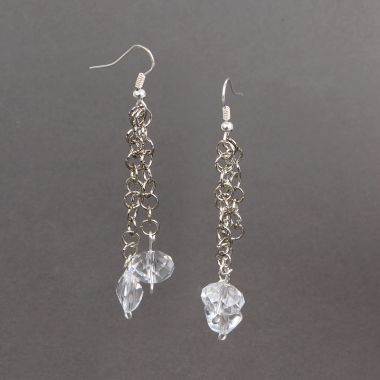 Chain Drop Earrings made with Swarovski
