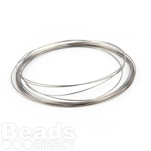 Memory Wire Necklace Stainless Steel Bright 12 Loops 1 Reel