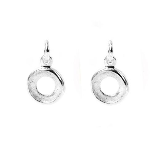 Sterling Silver 925 Charm Small Setting SS34x2 9mm Pk2