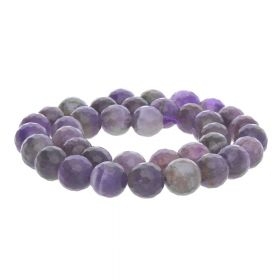 Amethyst / faceted round / 8mm / 48pcs