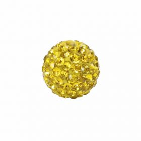 Yellow Crystal 10mm Premium Shamballa Fashion Round Pk1