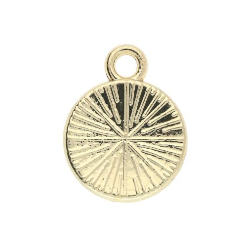 SweetCharm ™ Smile / charm pendant / 12x10x2mm / gold plated / white / 2pcs