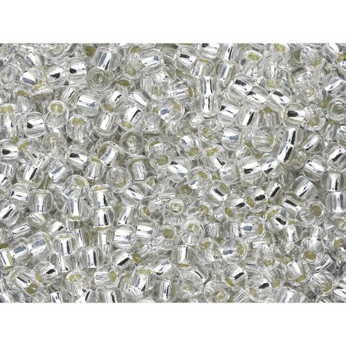 TOHO™ / Round 15/0 / Silver Lined / Crystal / 10g / ~ 1400 pcs