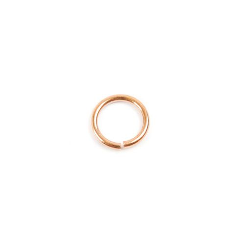 Rose Gold Plated Brass Jump Rings 6.5mm 1mm gauge Pk100