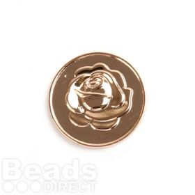 KB Small Rose Gold Rose/Love Coin Disk for Interchangeable Locket 24mm Pk1