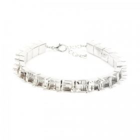 """Silver Plated Cupchain SS39 Bracelet Base with Clasp & 8"""" Extension Chain Pk1"""