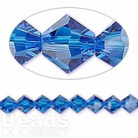 5328 Swarovski Crystal Bicones Xillion 6mm Capri Blue Pk24