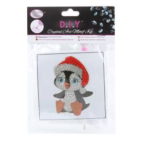 Beads Direct Crystal Motif Kit 'Santa Penguin' with Tool