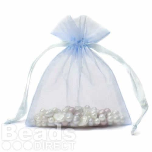 """Turquoise Organza Bag 5""""x6.5"""" Pack 5"""