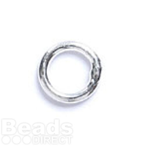 Silver Plated Soldered Rings 6mm Pk100