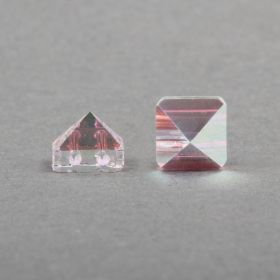 5061 Swarovski Square Spike Two Hole Bead 7.5mm Crystal AB Pk3