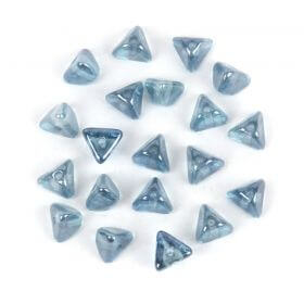 Preciosa Pressed Glass Half Pinch Denim Blue 4x7mm Pk20