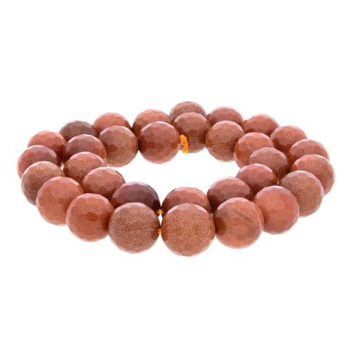 Desert sandstone (synthetic) / faceted round / 6mm / 64pcs