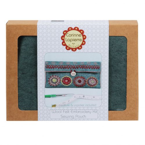 Corinne Lapierre Sewing Pouch Felt Embroidery Craft Kit