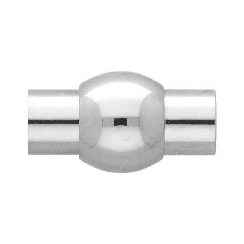 Magnetic clasp / surgical steel / ball / 22x14x14mm / silver / hole 8mm / 1pcs