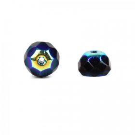 Preciosa Czech Glass Hill Beads Navy Blue Iris 7mm Pk30