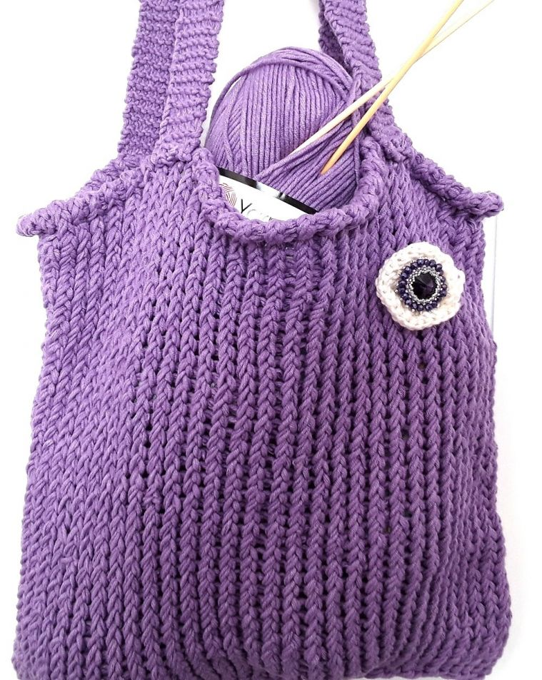 How to make a Loom Knitted Bag