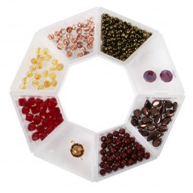 Beads Direct 'Autumn' Bead and Crystal Collection with Storage Ring