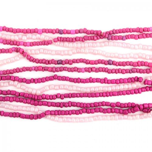 Fuchsia/Soft Pink Ombre Glass Seed Bead Mix Approx. 2metres