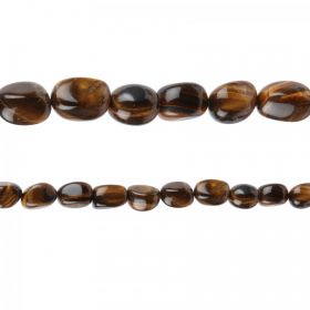 "Tiger Eye Semi Precious Nugget Beads 12x20mm 15"" Strand"