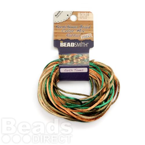 Rattail Earth Tones 2mm 4 Colours 4x3yds