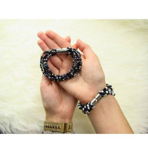 How to make a crystalove bracelet - bracelet course with magnetic clasps